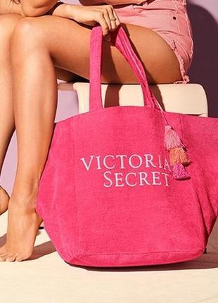 Махровая пляжная сумка victoria's secret