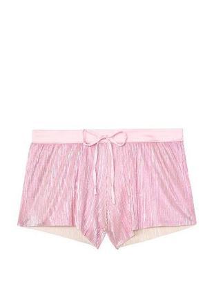 Плиссированные шорты victoria's secret shine pleat short, s