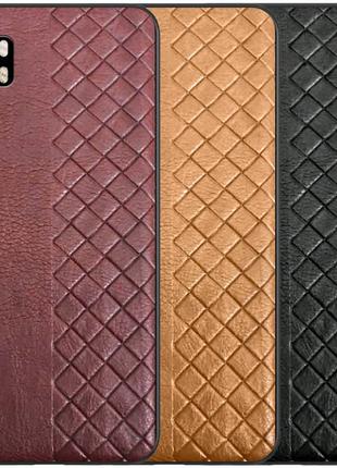 Кожаная накладка WeaveSide (PU) для Xiaomi Mi Note 10 Lite