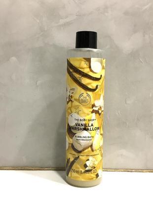 "Пена для ванн the body shop ""ваниль маршмеллоу"" vanilla marshm..."