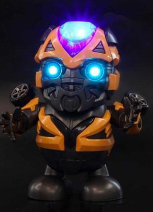 Танцующая интерактивная игрушка робот трансформер Бамблби супе...