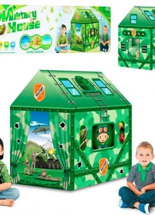 Детская игровая палатка милитари домик для мальчиков на 2 входа