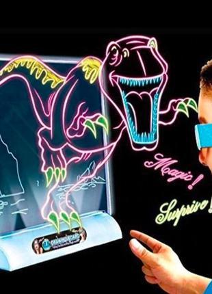 Хит! 3D доска Детский набор для рисования с подсветкой Magic О...