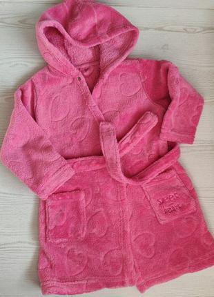 Халат розовый на девочку