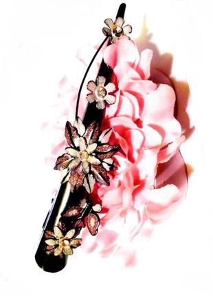 Заколка для волос asos зажим с кристаллами длина 13,5 см💖метал...