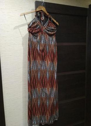 Длинное трикотажное платье сарафан next