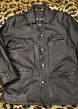 Утепленная кожаная куртка sardar