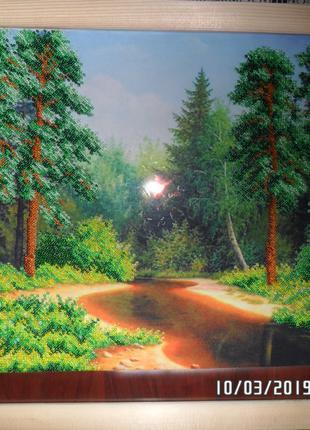 """Картина вышита бисером """"Природа"""""""
