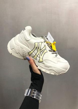 New york yankees x white женские кожаные кроссовки