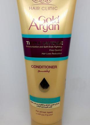 EVA Cosmetics Hair Clinic Gold Argan Conditioner 230мл Египет