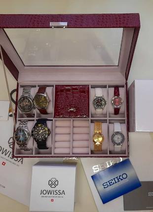 АКЦИЯ шкатулка для хранения часов и украшений подарок часы биж...