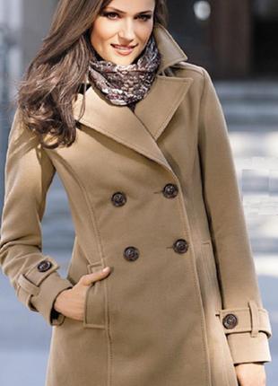 Шикарне пальто flame от takko fashion німеччина xl наш 52-54 р...