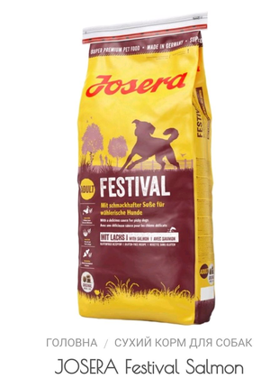 сухий корм для собак Josera Festival 15кг