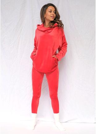 Комплект женской домашней одежды/пижама велюр(штаны+кофта)