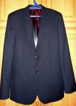 """Новый чёрный мужской костюм """"Galant"""" (пиджак и брюки) - 46 размер"""