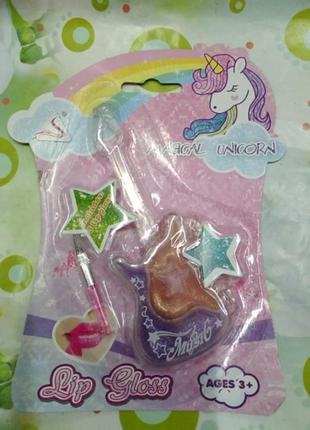 Набор детский ,блески для губ. подарок для девочки 3+ magic