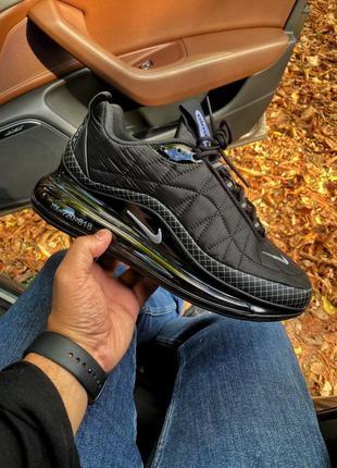 Мужские чёрные кроссовки найк эир макс nike air max