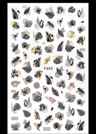 Наклейки для ногтей маникюра дизайна набор