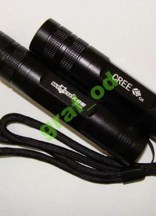 Фонарик Led Q5 18650 алюминиевый корпус + подарок аккумулятор