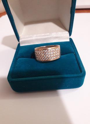 Кольцо (золото 585) С горным хрусталем
