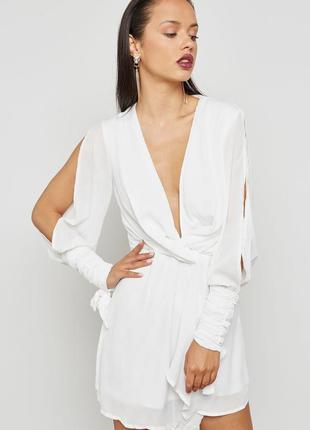 Восхитительное нежное белое вечернее новогоднее платье  missgu...
