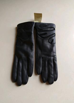 Кожаные женские перчатки HOLMS!Гонконг!Лучше чем варежки!Оригинал