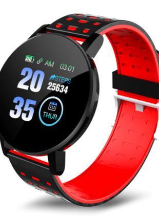 Смарт часы 119 PLUS Красный