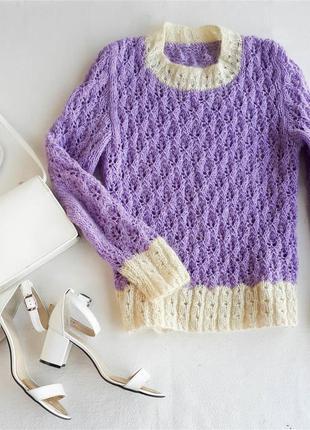 Вязанный свитер 100% шерсть