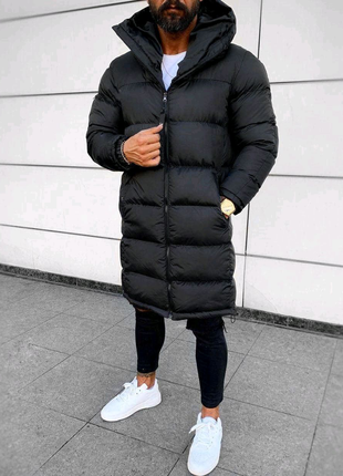 Акция! Зимняя мужская куртка! Удлинённый Пуховик! До - 30°С.