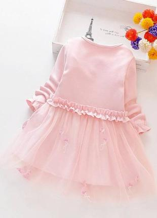 Платье детское фламинго
