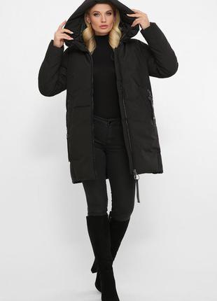 Куртка черная больших размеров (58,48)