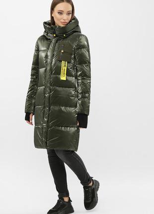 Куртка женская зимняя хаки