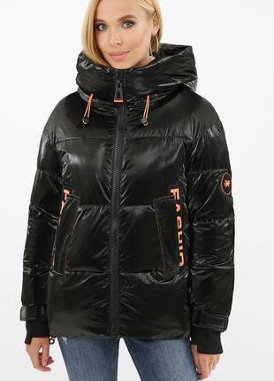 Куртка черная зимняя женская (биопух)