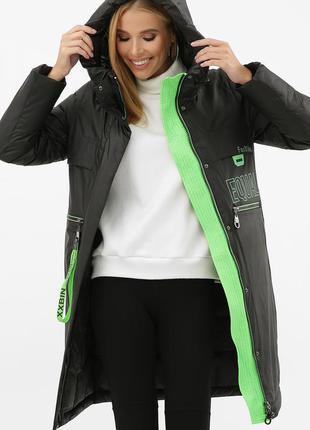 Куртка черная женская зимняя