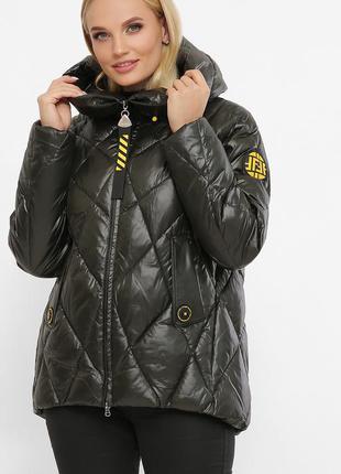 Куртка женская хаки теплая (зима/ размеры -48,50,52,58)