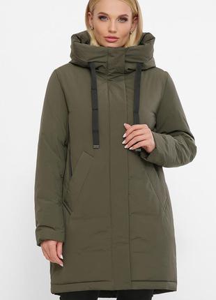 Куртка женская хаки теплая