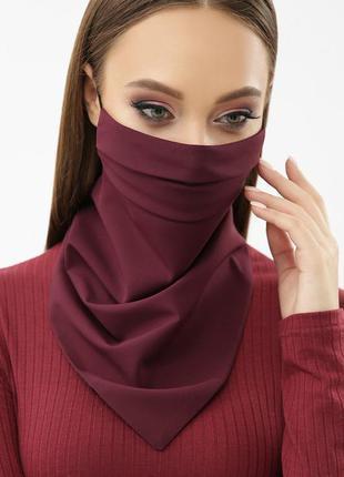 Маска платок бордова язащитная для лица