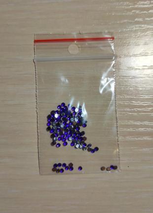 Синие стразы 1,5 мм