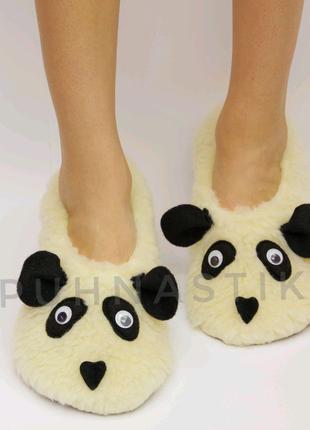 """Женские домашние  тапочки  """"Панда """", идея подарка"""