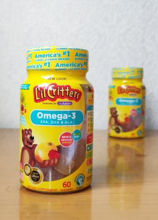 Рыбий жир, омега-3 для детей, Lil Critters, 60 желейных мишек