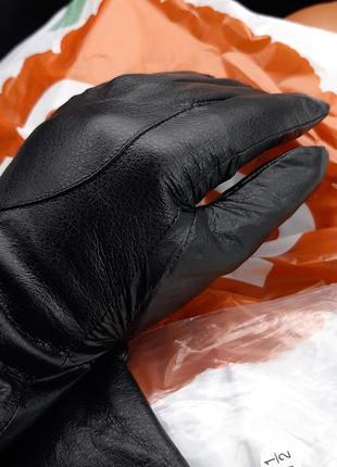 Перчатки,теплые перчатки,кожа