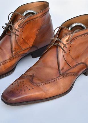 Magnanni оригинал!! мужские кожаные итальянские туфли казаки б...