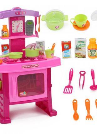 Детская кухня с духовкой и посудой для девочки KITCHEN