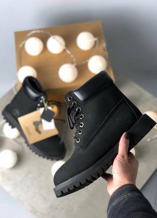 🍁timberland black🍁мужские чёрные кожаные демисезонные ботинки ...
