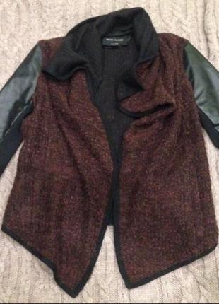 Актуальная модная косуха river island, курточка на осень, шерс...