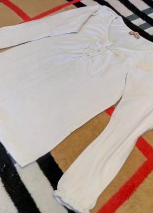 Новая белая кофта, джемпер с пуговицами на груди