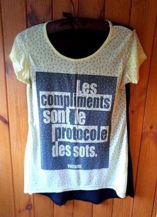 Прозрачная футболка, сзади удлиненная