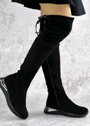 Ботфорты женские черные Tika 2212