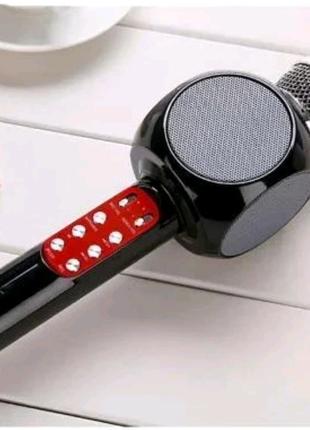 Микрофон караоке блютуз колонка ws 1816 karaoke