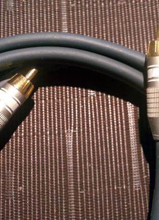 Высококачественный audio кабель Золото 24 карата!!! Франция 1.5 м